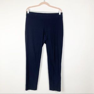 Eileen Fisher Knit Stretch Pants PL Navy #0205